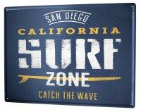 Tin Sign XXL Holiday Travel Agency Surf zone