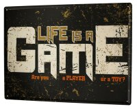Tin Sign XXL Fun Life game