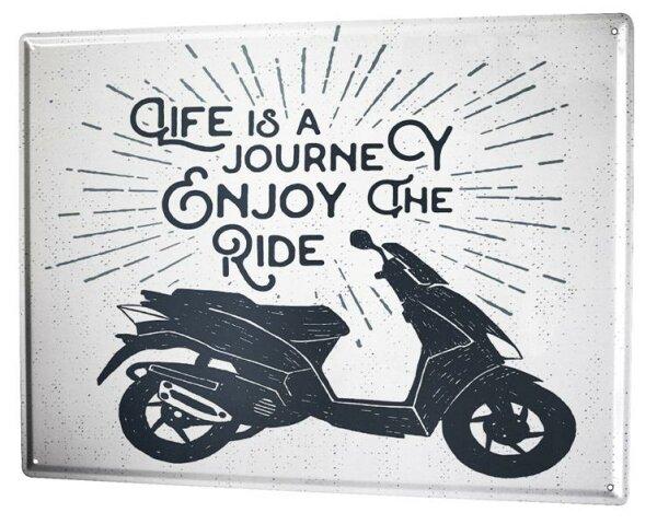 Tin Sign XXL Motorcycle Garage Enjoy ride