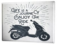 Tin Sign XXL Motorcycle Garage Enjoy ride