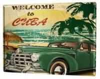 Tin Sign XXL Holiday Travel Agency Cuba