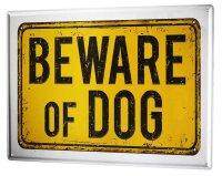 Tin Sign XXL Ravtive Vet Practice Beware dog