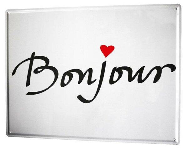 Tin Sign XXL Fun Bonjour