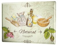 Tin Sign XXL Fun Kitchen Natural cosmetics