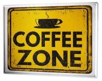 Tin Sign XXL Coffee Cafe Bar Coffee zone