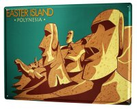 Tin Sign XXL Holiday Travel Agency Easter Island
