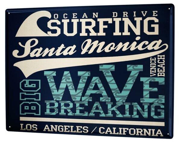 Blechschild XXL Abenteurer Santa Monica