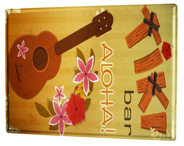Blechschild XXL Weltenbummler Hawaii Aloha
