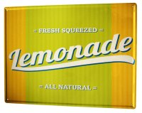 Tin Sign XXL Nostalgic Bio Limonade