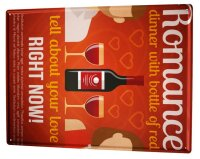 Tin Sign XXL Bar Party Red wine