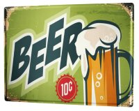 Tin Sign XXL Brewery Beer Kitchen 10 cents