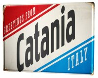 Tin Sign XXL City Catania Italy