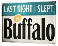 Tin Sign XXL City Buffalo USA