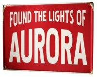 Tin Sign XXL City Aurora USA