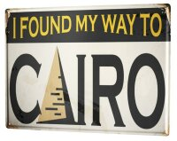 Tin Sign XXL City Cairo Egypt