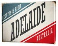 Tin Sign XXL City Adelaide Australia