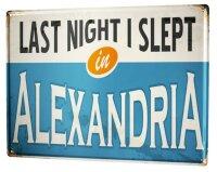 Tin Sign XXL Retro Art Metropole Alexandria Egypt