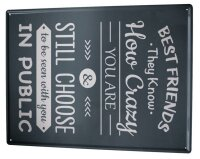 Tin Sign XXL Fun Best Friends