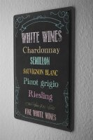 Tin Sign Bar Party White Wines