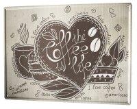 Tin Sign Retro Coffee Life