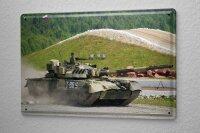 Blechschild Militär Panzer Geschütz