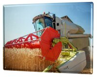 Tin Sign Retro combine harvester