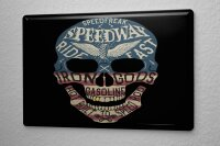 Tin Sign Fantasy Gothic speedway skull