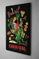 Tin Sign Holiday Travel Agency brazil carnival