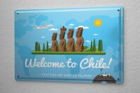 Tin Sign Holiday Travel Agency Welcome to Chile
