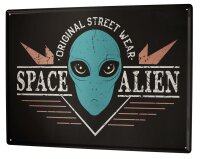 Tin Sign Nostalgic Space space alien