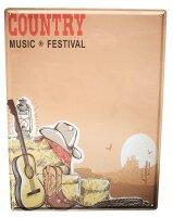 Blechschild Bar Party Country Musik Festival