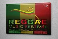 Blechschild Kino Reggae Musikfest