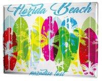 Tin Sign Holiday Travel Agency Florida beach paradise lost