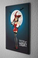Tin Sign Fantasy Motif Halloween Witch