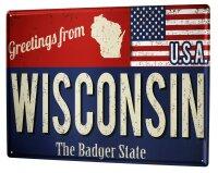 Tin Sign Holiday Travel Agency Wisconsin USA
