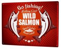 Tin Sign Coastal Marine Wild salmon