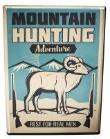 Blechschild Militär Jagd Berge