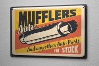 Tin Sign Vintage Car Car Workshop Exhaust