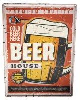 Blechschild Alkohol Retro Bier Bierglas Bar Kneipe...