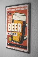 Tin Sign Bar Party Beer beer glass