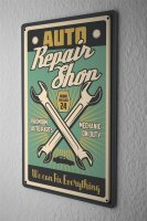 Tin Sign Home Office Car Workshop Repair Professional Title