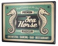 Tin Sign Fun Ravtive Seahorse Bar Beach