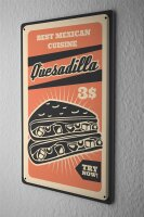 Tin Sign Kitchen Quesadilla Mexico Food