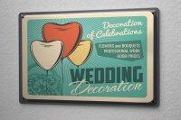 Tin Sign Just Married Ravtive Wedding Decoration Balloon
