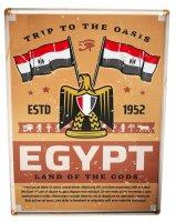 Tin Sign Holiday Travel Agency Egypt flag