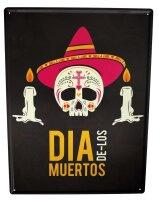 Tin Sign Fun Ravtive Skull Sombrero