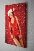 Tin Sign Pin Up Adult Art sexy merry x-mas