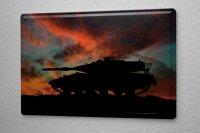 Blechschild Militär Panzer