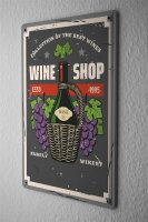 Tin Sign Bar Party Wine bottle