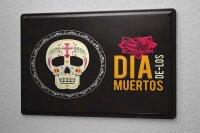 Tin Sign Retro Dia Muertos Skull